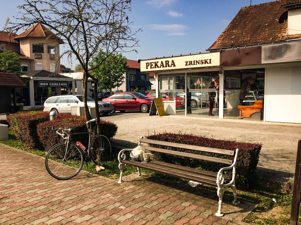 View at a bakery Zrinski at Stubičke Toplice. Image taken: 20.5.2018.