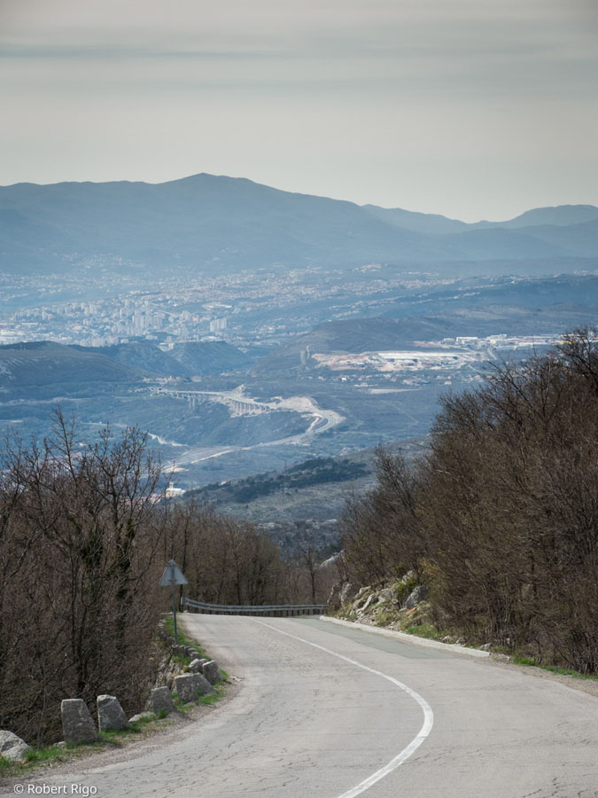 View from Karolina's road toward city of Rijeka in a distance. Image taken 14.4.2018.