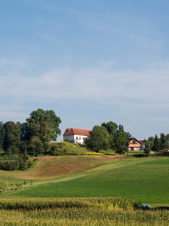 Pogled na dvorac Pallfy-Erdödy na brijegu pored mjesta V. Horvatska.